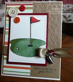 Paper Playhouse: golf-themed card