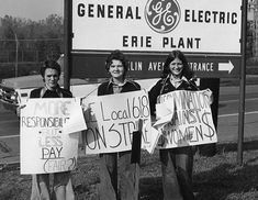 How Young Women Shook Up GE in the '70s; In the 1970s, salaried women workers at Erie GE fought important battles for workplace equality, including two strikes in 1974 & '75 in which they demanded equal pay for equal work. The participants in these struggles were predominantly young women, & they were influenced by the ideas of the feminist movement as well as by UE's long-established principles of equality & rank-and-file unionism. {Women's History}