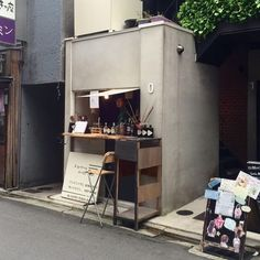 Small café in kyoto. more tiny shop, coffee shop japan Small Coffee Shop, Coffee Store, Coffee Shop Design, Coffee Cafe, Coffee Shop Japan, Street Coffee, Café Bar, Gin Bar, Café Bistro