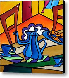 Tea Time - Abstract Pop Art By Fidostudio Canvas Print / Canvas Art By Tom Fedro - Fidostudio