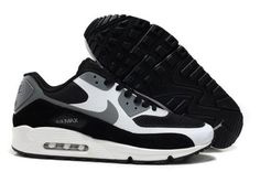 Nike Air Max 90 Hyperfuse Premium Mens Black White Cool Grey Trainers UK