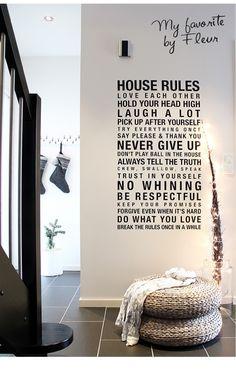 Woorden, quotes en teksten op de muur | Interieur design by nicole & fleur