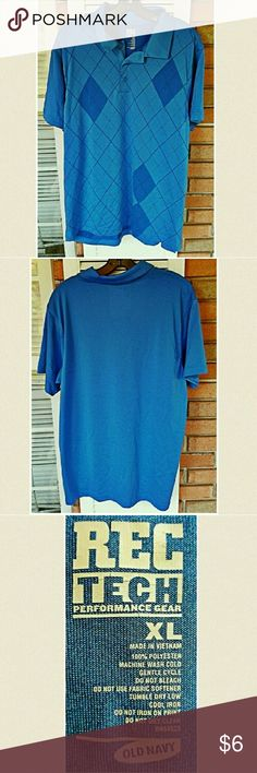 "Blue golf style polo by Old Navy 100%polyester. Machine wash cold, no softeners, tumble dry low.#oldnavy#sizexl ?Scrubs, Jewelry& FALL/WINTER CLOTHING BOGO 50% OFF!! BUY ANY 3 ITEMS &GET ONE FREE!!? 30%bundle discount! LET ME CREATE YOUR BUNDLE SO YOU RECEIVE THE BEST DISCOUNT!!:) (Once you are ready to purchase, comment ""bundle"" and I'll do the rest!) Old Navy Shirts Polos"