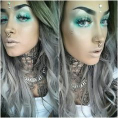 Graue / silberne Haare und liebe das Make-up als auch Love Makeup, Simple Makeup, Makeup Art, Beauty Makeup, Makeup Looks, Hair Makeup, Hair Beauty, Makeup Ideas, Awesome Makeup