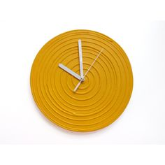 YELLOW WALL CLOCK, Yellow Clock, Sun Yellow Home Decor, Yellow Wall... (12.325 HUF) ❤ liked on Polyvore featuring home, home decor, clocks, yellow wall clock, sun wall clock, minimalist home decor, yellow home decor and yellow home accessories