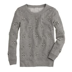 Pre-order jeweled chandelier sweatshirt- 25% off any order at jcrew.com for 48 hours with code SECRET.