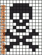 13 wide Skull friendship bracelet pattern number - For more patterns and inspiration visit our web or the app! Bead Loom Patterns, Jewelry Patterns, Beading Patterns, Embroidery Patterns, Cross Stitch Patterns, Friendship Bracelet Patterns, Friendship Bracelets, Friendship Tattoos, Cross Stitch Skull