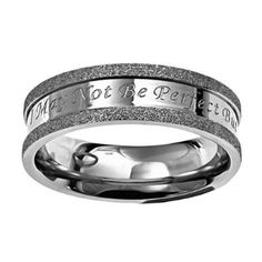 """Christian Womens Stainless Steel Abstinence Silver Champagne Not Perfect Chastity Ring for Girls - """"I May Not Be Perfect But Jesus thinks I Am To Die For"""" - Girls Purity Ring: Jewelry: Amazon.com"""