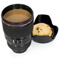 CAMERA LENS MUG - http://www.differentdesign.it/2013/10/17/camera-lens-mug/