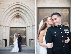 marine bride and groom