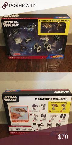 Star Wars Hero & Villain Starships 11 pack Hero & Villain Starships 2 GOLDEN DIE-CAST EXCLUSIVES!  Brand new Star Wars Other