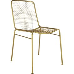 Shop alpha brass chair. Dare to dine up a notch. Modern metallic lacquers handmade iron frame with woven wire back expertly welded into a graphic linear pattern.