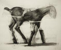 Artist Daniel Ochoa Goat Study charcoal on paper, 2017 Cute Drawings, Animal Drawings, Till Death, Moleskine, Urban Art, Les Oeuvres, Painting & Drawing, Goats, Charcoal