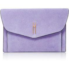 Hayward Bobby Clutch found on Polyvore featuring bags, handbags, clutches, purple, purple suede handbag, purple purse, purple handbags, suede purse and suede handbags