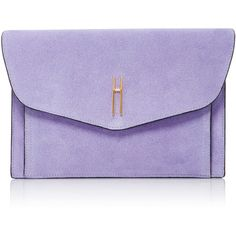 Hayward Bobby Clutch (90,130 INR) ❤ liked on Polyvore featuring bags, handbags, clutches, purple, suede handbags, suede purse, purple purse, purple suede handbag and purple handbags