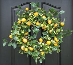 lemon  boxwood wreath