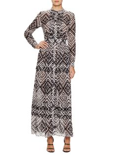 Cotton Silk Ripple Printed Dress from The It Brits: Temperley London Apparel on Gilt