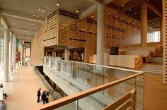 La Grande Bibliothèque du Québec à Montréal (The Grand Library of Quebec in Montreal), by Patkau Architects with Croft Pelletier and Menkès Shooner Dagenais Architectes Associés, part of Bibliothèque et Archives nationales du Québec, Canada