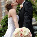Mixed pastel and ivory bridal bouquet designed in all roses | Bergerons Flowers & Events