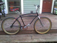 Cruiser with BMX Handlebars Bmx Handlebars, Bmx Bikes, Cool Bikes, Schwinn Bikes, 24 Bmx, 26 Beach, Cruiser Bicycle, Vintage Bicycles, Dirt Biking
