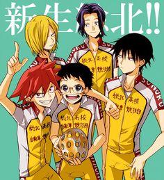 YowaPeda ~~ They ARE the future of Sohoku! :: First Years Naruko, Onoda, and Imaizumi. Second Years Aoyagi and Teshima