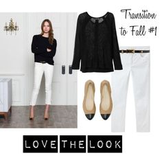"#Outfits  Cute Hipster Outfits : ""Transition to Fall #1 - White Jeans"""