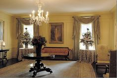 Christmas in the Vermeil Room at the White House