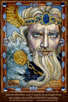 Odin by BohemianWeasel... A rare two-eyed Odin.  (I don't always see Him with one eye missing...)