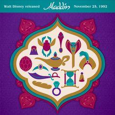 Disney's Aladdin premiered on November 1992 Disney Animated Classics, Disney Animated Movies, Walt Disney Animation, Disney Pixar, Disney Fan Art, Disney Love, Disney Jasmine, Disney Facts, Happy Anniversary