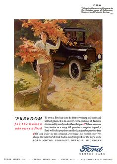 1924 Ford Model T Advertisement Old Advertisements, Car Advertising, Ford Lincoln Mercury, Cars Usa, Car Magazine, Car Posters, Ford Motor Company, Ford Models, Car Pictures