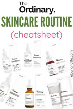 The Ordinary Anti Aging, The Ordinary Skincare Guide, Skin Care Routine Steps, Skin Routine, Acne Skin, Acne Prone Skin, The Ordinary Treatment Guide, Facial Skin Care, Facial Tips