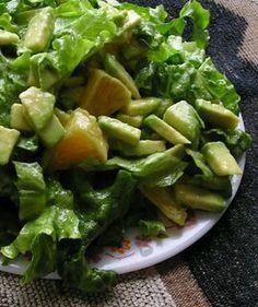 Lettuce with Oranges Avocado and Shallot Vinaigrette