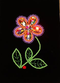 woodland style flower, soon to be in a frame. www.facebook.com/Nativecraftsandjewelery