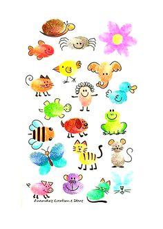 Craft Activities, Preschool Crafts, Fun Crafts, Crafts For Kids, Arts And Crafts, Paper Crafts, Thumbprint Crafts, Fingerprint Crafts, Toddler Art