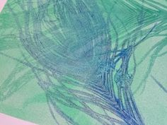 gelli printing with plants and feathers - YouTube