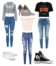"""""""which  one  left  right  or  middle"""" by charlyebarley on Polyvore featuring Topshop, Ted Baker, Boohoo, Tommy Hilfiger, Jimmy Choo, Lacoste and Converse"""
