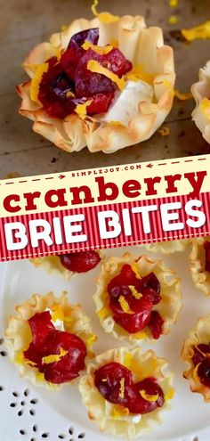 A fillo cup recipe for Thanksgiving and Christmas! Baked with brie cheese and cranberry sauce, these little bites are the perfect holiday appetizer. Super easy and delicious! Pin this for later!