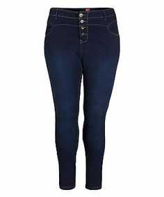 Navy (Blue) Inspire 32in Navy High Waisted Skinny Jeans   279439341   New Look
