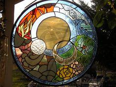 Elements stained glass by LoneDireWolfess.deviantart.com on @deviantART