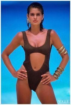 Cindy Crawford, Vogue, May 1, 1986 Photo Wayne Maser