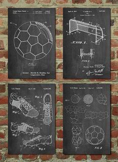 Soccer Patent Posters Group of Soccer Gifts, Sports Decor, Soccer Mom, Soccer Wall Art, - mãe e bebê