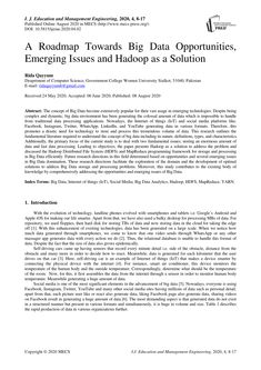 PDF | The concept of Big Data become extensively popular for their vast usage in emerging technologies. Despite being complex and dynamic, big data... | Find, read and cite all the research you need on ResearchGate Location Based Service, Research Publications, Cloud Computing, Big Data, Computer Science, Management, Pdf, Concept, Technology