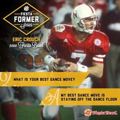 This week the Fiesta Bowl's Series features former Nebraska quarterback and 2001 Heisman winner, Eric Crouch! Check out his most memorable play as a Husker, how he won over his wife back in their high school days and more. Championship Game, National Championship, Football Hall Of Fame, College Football, High School Days, Heisman Trophy, Best Dance, Dance Moves, Nebraska