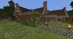 Minecraft medieval home or inn - beautiful Minecraft Houses Xbox, All Minecraft, Amazing Minecraft, Minecraft Creations, Minecraft Designs, Minecraft Buildings, Minecraft Ideas, Minecraft Medieval Castle, Minecraft Structures