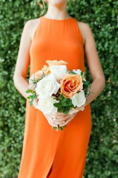 modern orange bridesmaid dresses Photography: Kate Robinson Photography - www.katerobinsonphotography.com/  Read More: http://www.stylemepretty.com/2014/06/17/modern-and-whimsical-orange-wedding-in-australia/