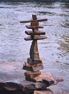 Land Art Or Environmental Art. Just Beautiful & We Can All Enjoy. Stone Balancing, Stone Cairns, Rock Sculpture, Stone Sculptures, Devon, Balance Art, Garden Art, Garden Ponds, Koi Ponds