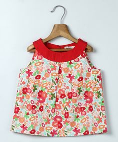 Red Floral Tank - Infant, Toddler & Girls