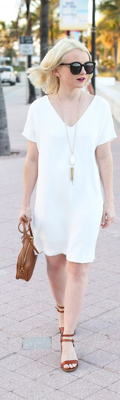How To Style The Perfect Little White Dress - Poor Little It Girl