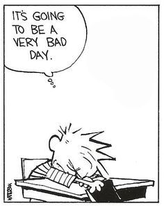 Mondays! Yes it is Calvin.
