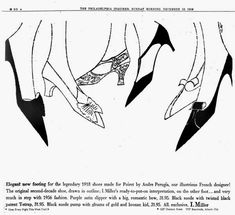 TheHistorialist: ANDRE PERUGIA | THE WARHOL SHOE AT THE MOULIN ROUGE AND ELSEWHERE [STARRING MISS MILLS AND MISTINGUETT]